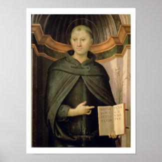 St. Nicholas of Tolentino (panel) Poster