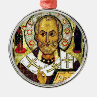 St. Nicholas - Patron Saint of Children Metal Ornament