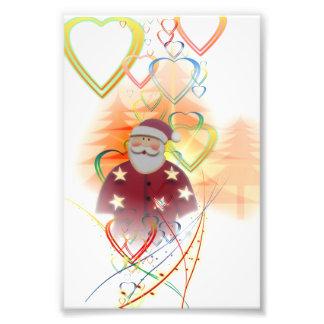 St. Nicholas Santa Clause Heart Tree Art Deco Photo