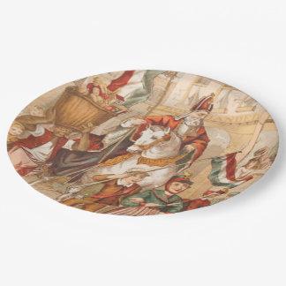 St. Nick St. Nicholas Dutch Sinterklaas Vintage 9 Inch Paper Plate