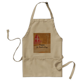 St. Nick's Day Dutch Sinterklaas  Watercolor Miter Standard Apron