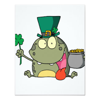 st paddy patty day froggy frog custom invite