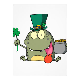 st paddy patty day froggy frog personalized announcement
