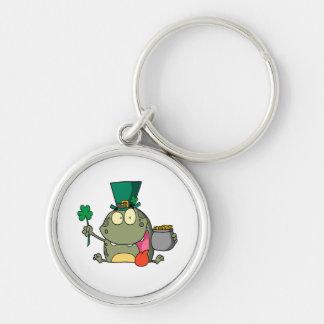 st paddy patty day froggy frog keychain