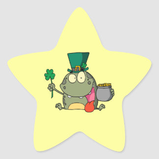 st paddy patty day froggy frog star stickers