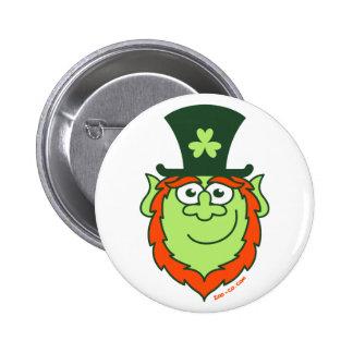 St Paddy s Day Leprechaun Smiling Button