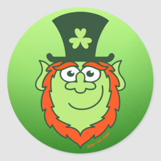 St Paddy s Day Leprechaun Smiling Sticker