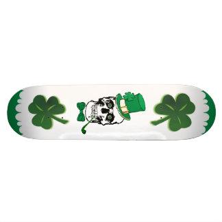 St. Paddy Skull Skateboard