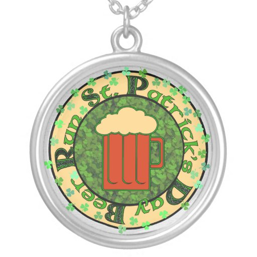 St Paddy's Beer Run Pendant