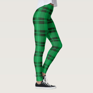 St. Paddy's Day Green Plaid Leggings