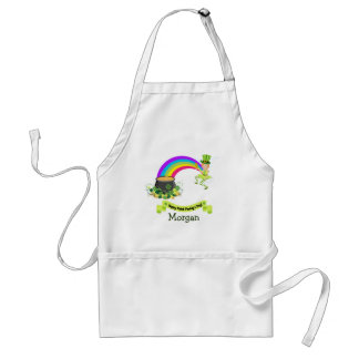 St Paddys Day Pot of Gold at the end of rainbow Standard Apron