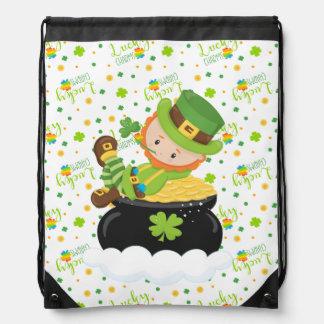 St Paddy's Leprechaun Drawstring Bag