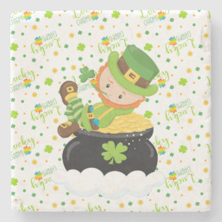 St Paddy's Leprechaun Stone Coaster