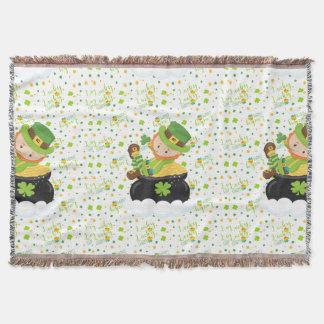 St Paddy's Leprechaun Throw Blanket