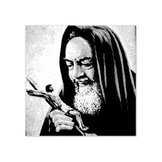 St. Padre Pio Priest Crucifix Rubber Stamp