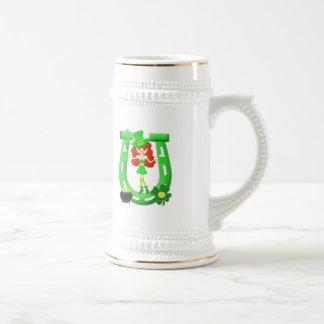 St Pat s Day Redhead Girl Leprechaun Coffee Mug