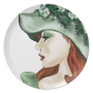 St. Patrick Day Irish lass lilyzm 2.jpg Plate