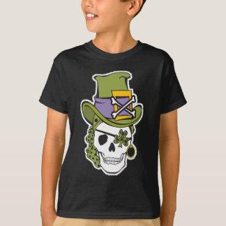 St Patrick Day Skull Tee Dark