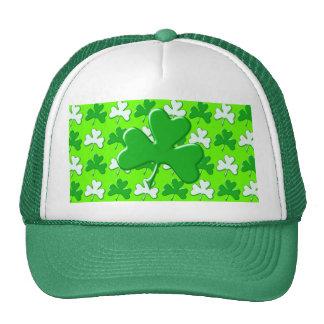 St Patrick Ireland Shamrock Pattern Design Cap