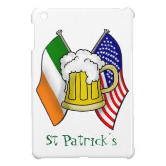 ST PATRICK IRISH - AMERICAN FLAG AND BEER MUG iPad MINI CASE