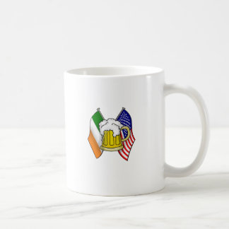 St Patrick Irish and American Flag with Beer Mug