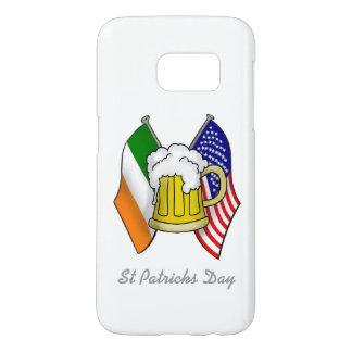 St Patrick Irish and American Flag with Beer SAMSU