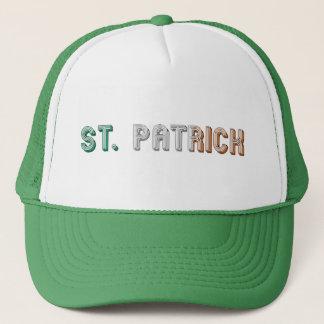 St. Patrick Irish Flag Typography Ireland Funny Trucker Hat
