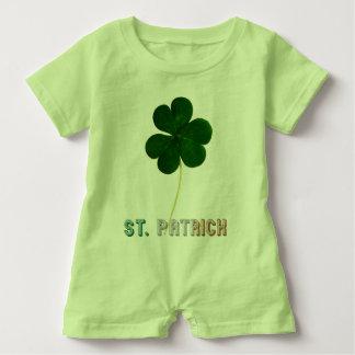 St. Patrick Irish Flag Typography Ireland Shamrock Baby Bodysuit