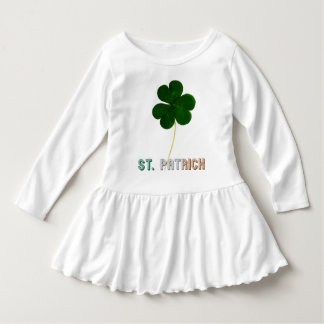 St. Patrick Irish Flag Typography Ireland Shamrock Dress