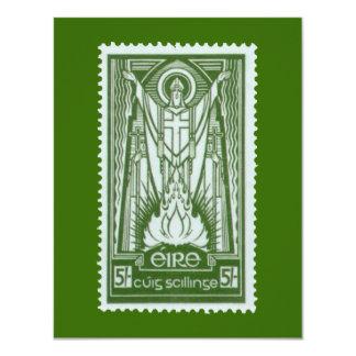 St. Patrick Irish Postage Stamp 11 Cm X 14 Cm Invitation Card