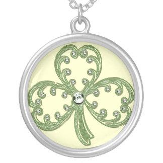 St. Patrick Jeweled Shamrock Necklace
