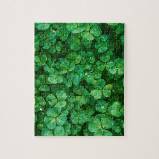St Patrick lucky clovers Jigsaw Puzzle