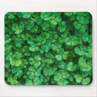 St Patrick lucky clovers Mouse Pad