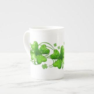 St. Patrick Lucky Shamrock bone china mug Tea Cup