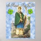 St Patrick, Patron Saint of Ireland. Poster