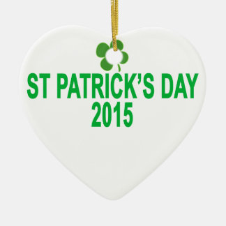 st patrick´s day 2015 T-Shirts '.png Ceramic Heart Decoration