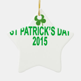 st patrick´s day 2015 T-Shirts '.png Ceramic Star Decoration