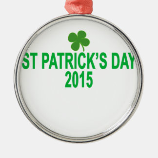 st patrick´s day 2015 T-Shirts '.png Silver-Colored Round Decoration