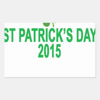 st patrick´s day 2015 T-Shirts '.png Rectangular Sticker