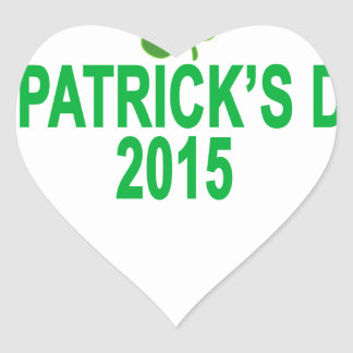 st patrick´s day 2015 T-Shirts '.png Heart Sticker