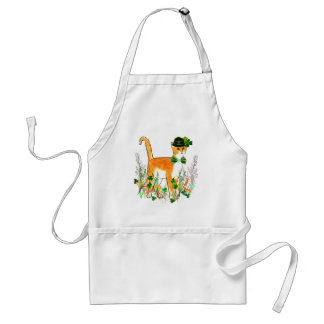 St Patrick s Day Cat Apron