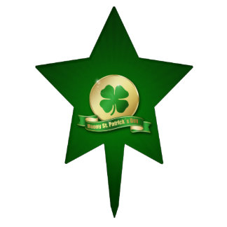 St. Patrick´s Day Coin - Cake Topper Star Shape