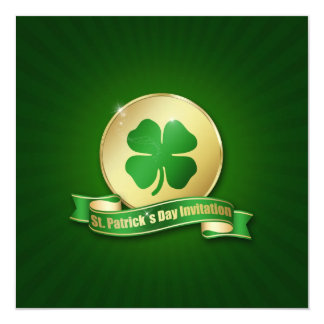 St. Patrick´s Day Coin - Invitation