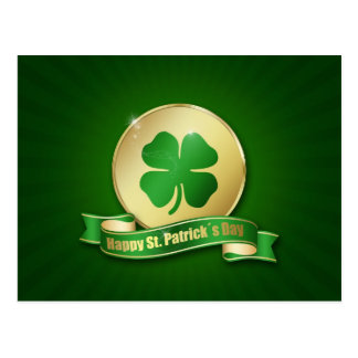 St. Patrick´s Day Coin - Postcard