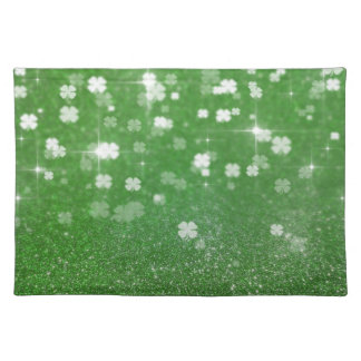 St. Patrick´s Day Glitter Clover - Placemat