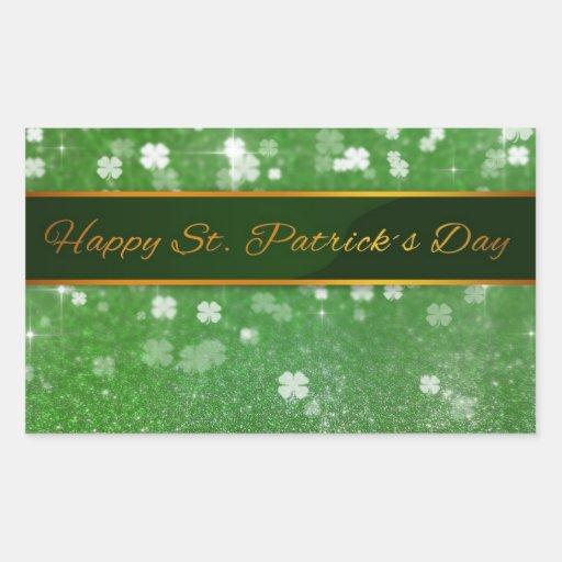 St. Patrick´s Day Glitter Clover - Sticker