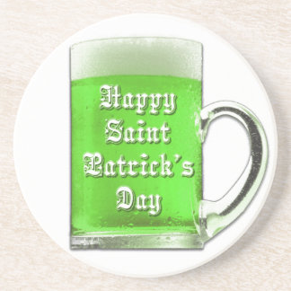 St. Patrick's Day Green Beer Mug Coaster