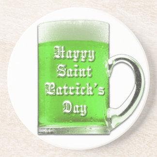 St. Patrick's Day Green Beer Mug Coaster