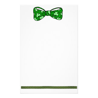 St. Patrick's Day Green Bow Tie Stationery