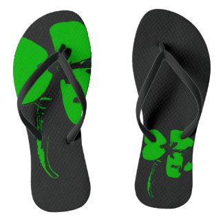 St. Patrick's Day Green Clover - Flip Flops